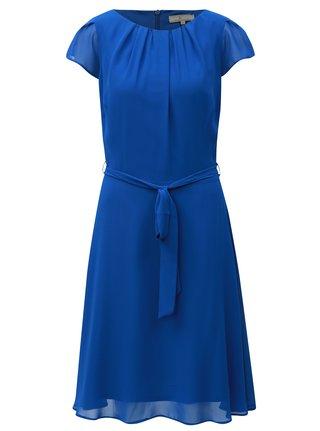 Modré šaty s páskem na zavazování Billie & Blossom Tall
