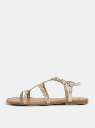 Sandale bej cu detalii aurii Dorothy Perkins