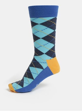 Sosete barbatesti albastre cu model Happy Socks Argyle