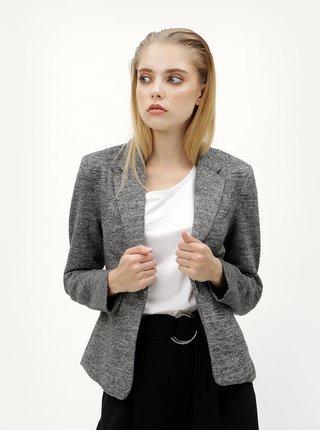 Šedé žíhané sako s kapsami ONLY Olivia