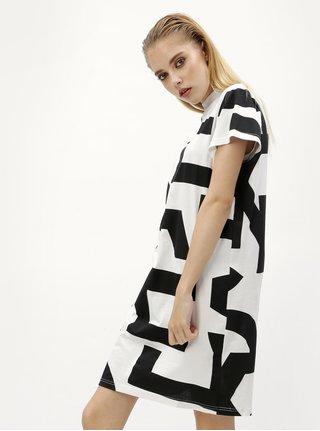 Rochie alb&negru cu print grafic Cheap Monday