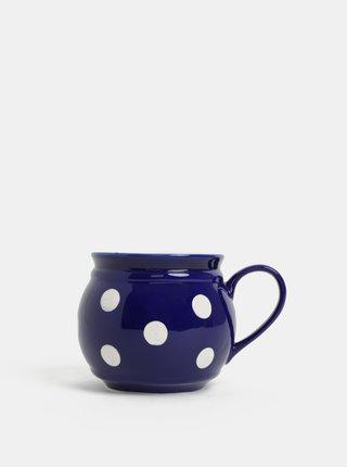 Cana ceramica albastra cu buline Dakls