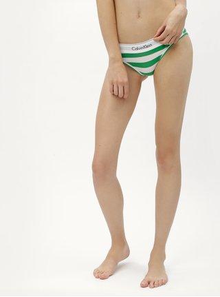 Chiloti alb-verde in dungi Calvin Klein Underwear