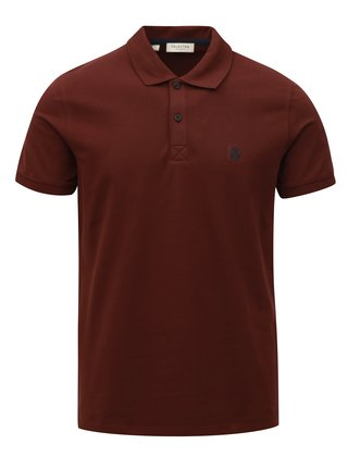 Tricou polo visiniu Selected Homme Haro
