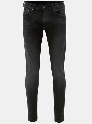 Blugi barbatesti negri regular din denim Pepe Jeans