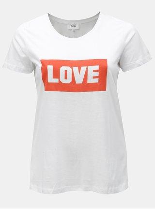 Tricou alb cu print Zizzi