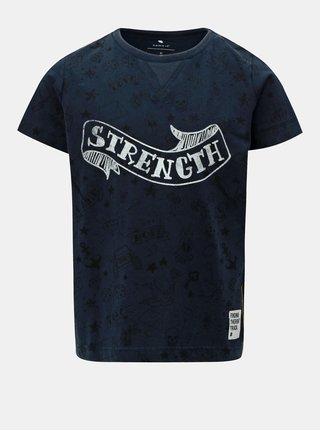 Modré chlapčenské tričko s potlačou Name it