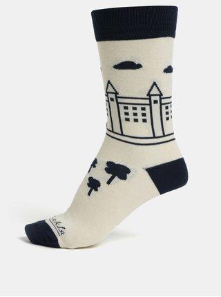 Krémové unisex ponožky Fusakle Bratislava Hrad