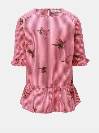 Ružovo-červené dievčenské šaty Name it