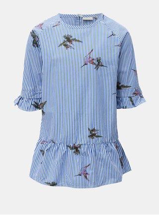 Bielo-modré dievčenské šaty Name it