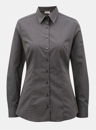 Tmavě šedá dámská košile s drobným vzorem VAVI