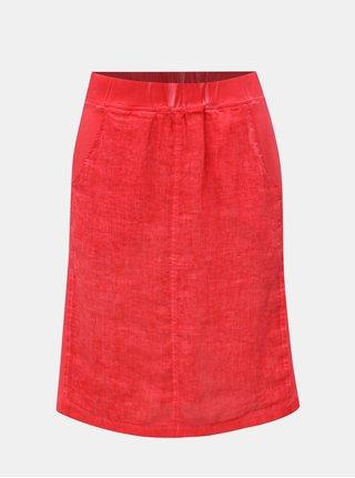 Červená lněná sukně Yest