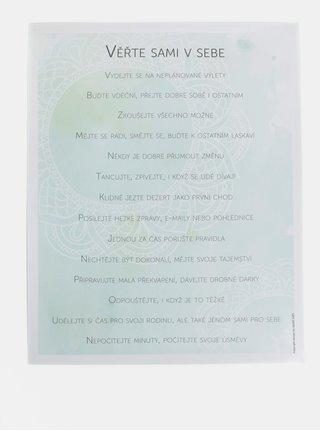 Modrý plakát HEZKÝ SVĚT Mandala