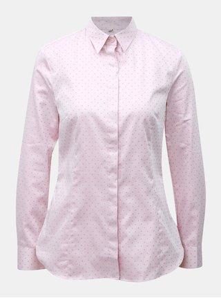 Světle růžová dámská vzorovaná košile VAVI