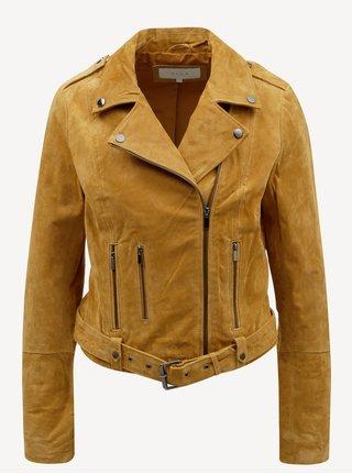 Hnedá semišová kožená bunda VILA Faith