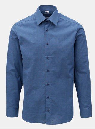Tmavomodrá pánska bodkovaná formálna košeľa VAVI