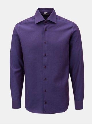Tmavofialová pánska vzorovaná formálna košeľa VAVI