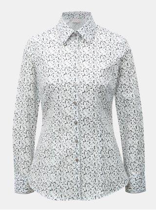 Biela dámska košeľa s kvetovaným vzorom VAVI