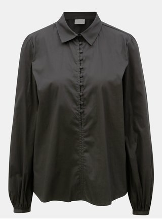Čierna košeľa VILA PLacket