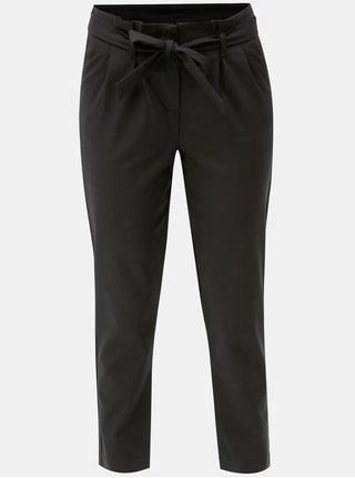 Pantaloni negri crop cu cordon VILA Beathe