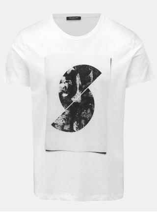Bílé tričko s potiskem Selected Homme