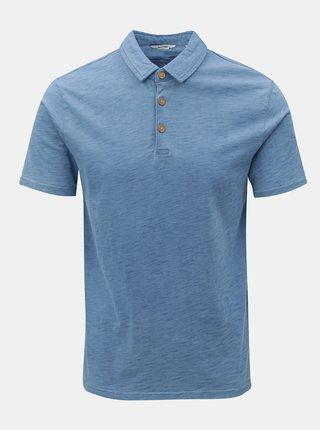 Světle modré žíhané polo tričko ONLY & SONS