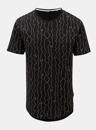 Černé tričko s nepravidelným potiskem ONLY & SONS