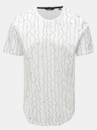 Tricou alb cu print neregulat ONLY & SONS