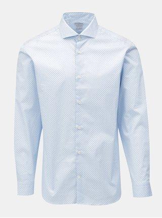 Camasa bleu slim fit cu model discret Selected Homme One