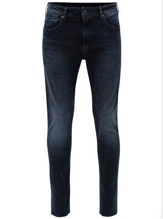 Blugi barbatesti albastru inchis skinny din denim Pepe Jeans