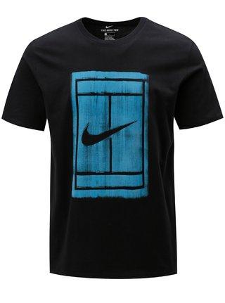 Tricou barbatesc negru cu print Nike