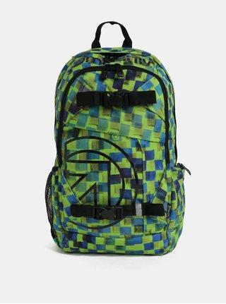 Modro-zelený kostkovaný batoh Meatfly Basejumper 3 20 l
