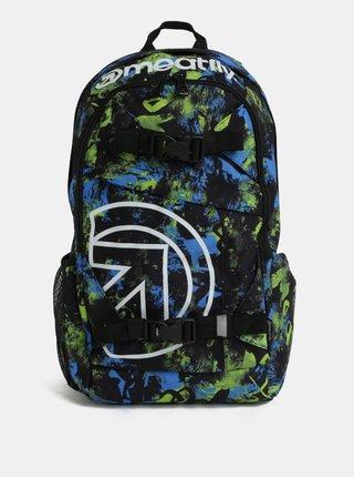 Zeleno-černý kostkovaný batoh Meatfly Basejumper 3 20 l
