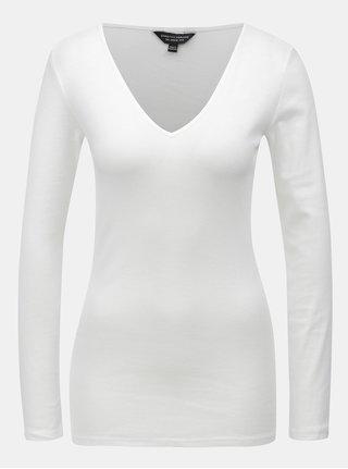 Biele tričko s dlhým rukávom Dorothy Perkins