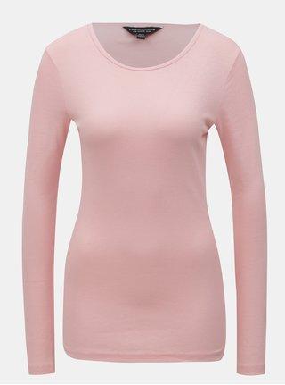 Růžové tričko s dlouhým rukávem Dorothy Perkins