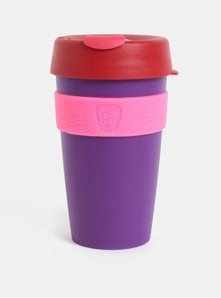 Červeno-fialový cestovní hrnek KeepCup Original Large