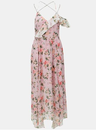 Rochie maxi roz cu model Dorothy Perkins