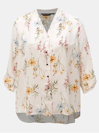 Růžová květovaná halenka Dorothy Perkins Curve