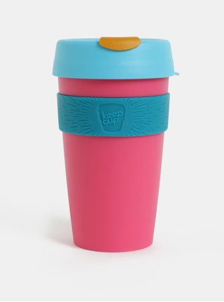 Cana de calatorie albastru-roz KeepCup Original Large