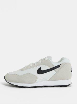 Krémovo–biele dámske semišové tenisky Nike Blazer Low Leather