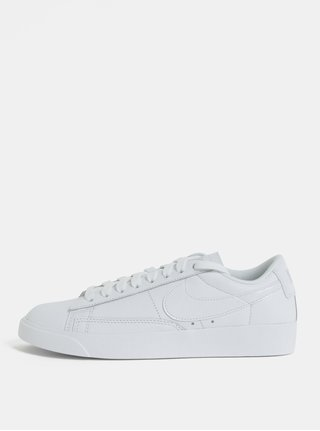 Tenisi de dama albi din piele naturala Nike Blazer Low Leather