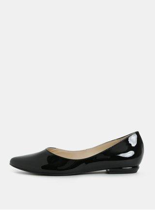 Černé kožené lesklé baleríny Högl