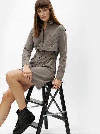 Rochie tunica mini gri cu buzunare MISSGUIDED