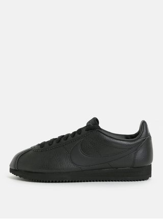 Tenisi barbatesti negri din piele naturala Nike Classic Leather