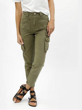 Khaki straight džíny s vysokým pasem a kapsami MISSGUIDED