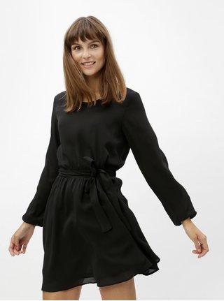 Černé minišaty s elastickým pasem VILA Lucy