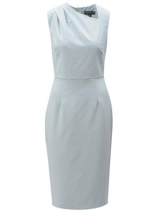 Modrošedé pouzdrové šaty s asymetrickým výstřihem Dorothy Perkins Tall