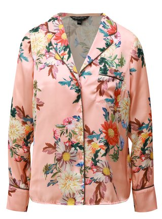 Bluza roz piersica floral Dorothy Perkins