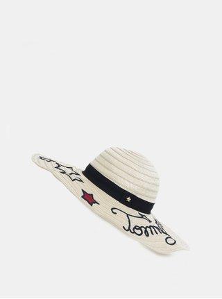 Krémový dámsky klobúk s výšivkami Tommy Hilfiger