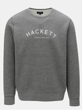 Šedá classic fit mikina Hackett London